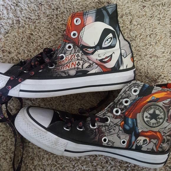 3b9bffbdb076 Converse Shoes - Harley Quinn Converse Hi Tops